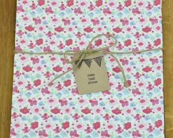 100% Cotton Tea Towel Lovely Pastel Flowers