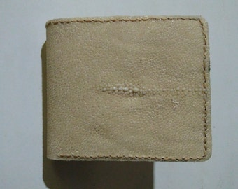 Handmade Stingray Wallet Hand Stitched Wallet natural Color