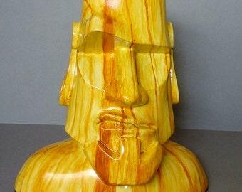 Easter Island Sculpture - Moai Sculpture, Tiki Sculpture, Polynesian Pop Sculpture, Kitsch, Modern Primitive, Bust,