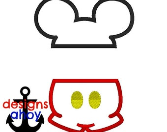 mr mouse split mickey mouse head with buttons and ears applique design 4x4 5x7 6x10 embroidery, personalization, birthday outfit.