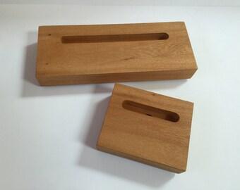 Oak Wood Iphone & Ipad Set in silk finish