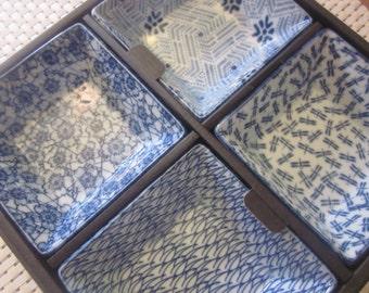 Japanese Plates Set of Four