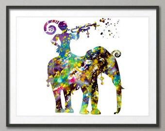 Elephant Art Print, Elephant Decor, Elephant Watercolor Art, Elephants, Elephant Wall Decor
