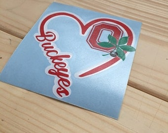Ohio State Buckeye Love Decal