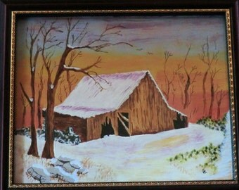 Old Barn - Winter Time