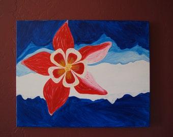 Columbine Flower Colorado Painting