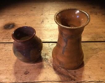 2 Stoneware Vases