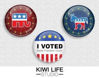 Political Buttons (Pin/Magnet)