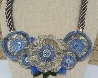 Fabric Statement Necklaces
