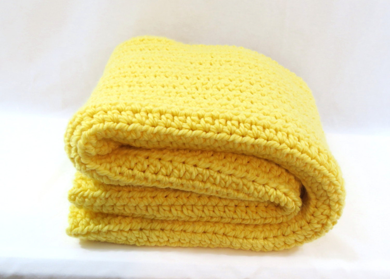 Chunky Crochet Yellow Blanket Throw Yellow Blanket Crochet