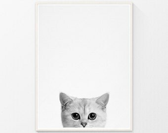 Cat print, kids decor, baby decor, kids gift, baby gift, kids posters, baby prints, baby animal nursery art, kids wall art, kids room decor