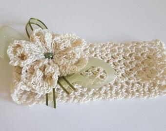 Crochet Baby Headband/ Newborn Gift handmade Crochet Headband/ Baby Girl Headband