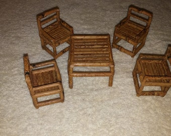Miniature Bamboo Furniture