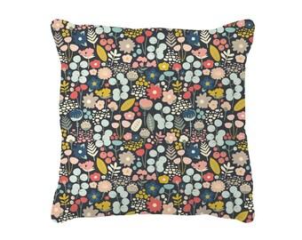 Woodland Floral Throw Pillow