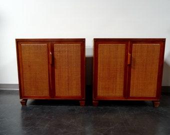 Pair Mid-Century Modern Credenzas / Cabinets by Tomlinson
