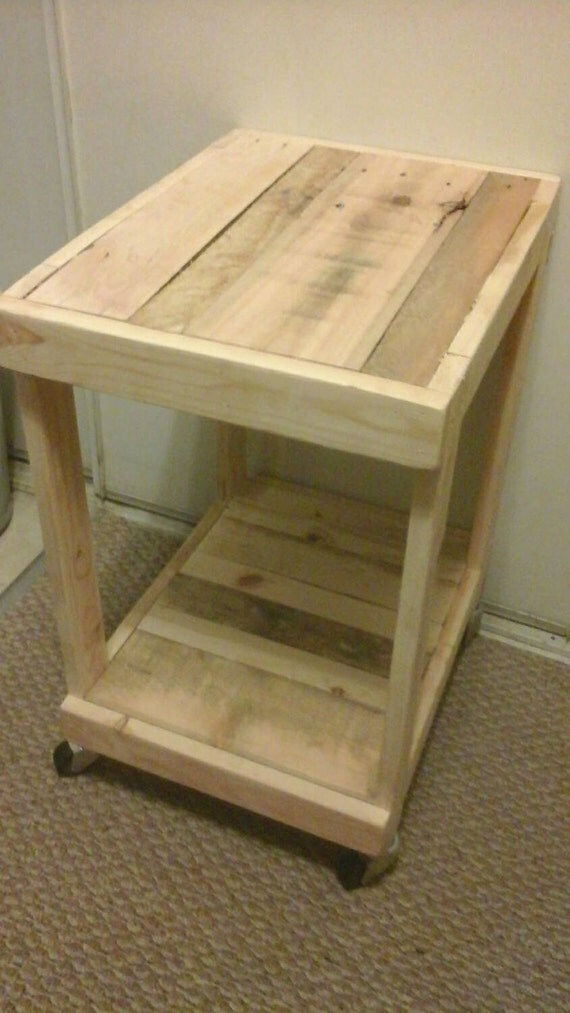 Small Two Level Side Table With Wheels End Table Coffee