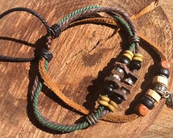 Genuine Leather Bead bracelet