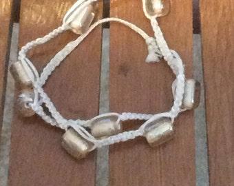 Fun goldish glass bead wrap bracelet