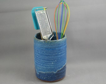 Pottery Utensil Holder Rutile Blue - Stellar Purple CHUNSP35