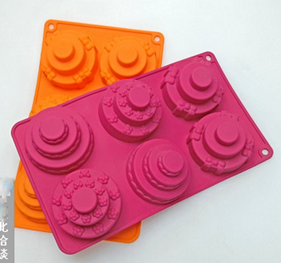 From Musty To Must See Kitchen: Layer Cakes Soap Mold Silicone Fondant Mold By Hotcakemold