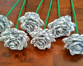 Paper Roses / Music Sheet Paper Roses