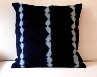 """Vintage Indigo Pillow 18"""" x 18"""""""