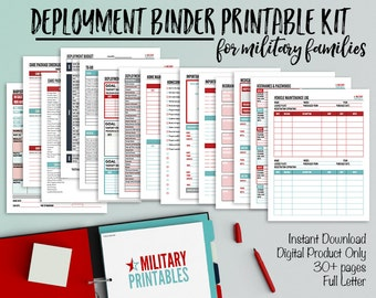 Deployment Checklist for Military Spouses and Families, Military Deployment Binder, Military Printables, Deployment Countdown, Homecoming