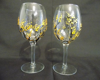 Hand Painted Wine Glasses (multiple colors available)