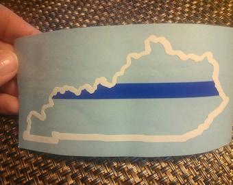 Kentucky thin blue line sticker