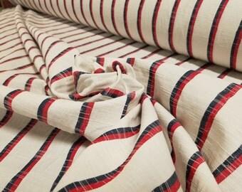Patriotic Stripe Cotton Slub Twill
