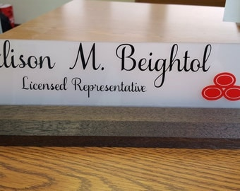 office desk name plate teacher gift co-worker name plaque