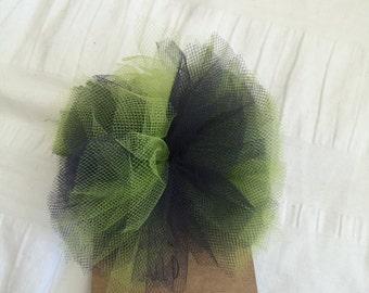 seahawks hair clip // tulle hair clip // hair accessory // girls hair clips