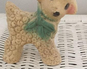 Adorable 1940s Chalkware Lamb