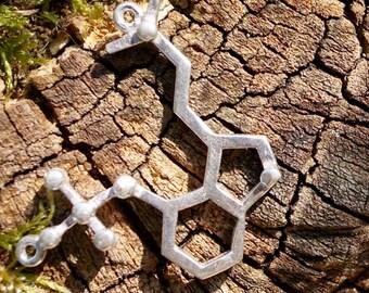 Psilocybin Molecule, Molecular Structure Necklace, Psilocybin Necklace