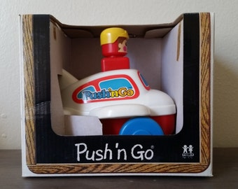 Push 'n Go Airplane Vintage 1975 Toy