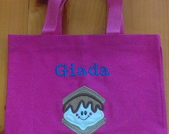 """11x8.5"""" Personalized Child's Tote Bag"""