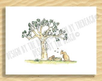 birth announcement card oz animals