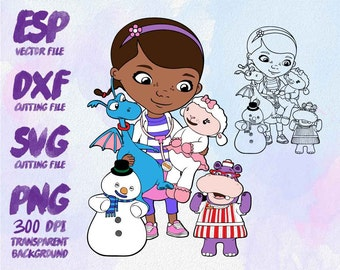 doc mcstuffins Clipart , SVG Cutting , ESP Vectors files , T shirt , iron on , sticker ,Personal Use