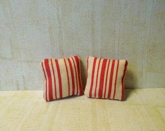 miniature cushions, doll house cushions, miniature accessories, doll house accessories