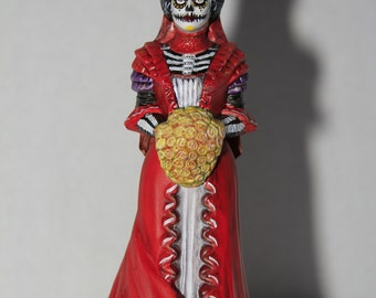 OOAK upcycled Day of the Dead Perfume Bottle