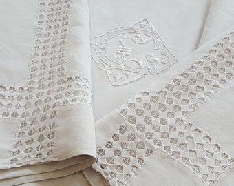 Former cloth linen to son learned with return Monogram LC ref 12095