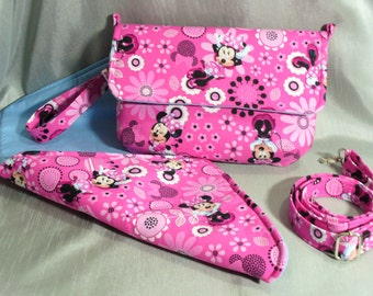 PRICE REDUCED: Clutch, Diaper Clutch, Diaper Bag, Shoulder Bag, Crossbody Bag, Minnie Mouse