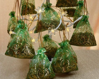 MAINE BALSAM Sachets *Scent your car/drawers/cupboards/closets with Natural Holiday HOME Fragrance*
