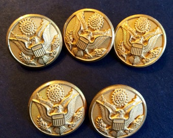 Vintage US army uniform buttons by Waterbury botton &