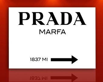 Modern painting Prada Marfa Gossip Girl 80x60cm canvas print
