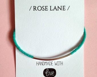 Items Similar To Turquoise Bracelet Silver Bar Bracelet