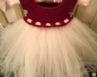Crochet Baby to Child Tulle Dress- Made To Order