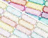 Glitter Quarter Boxes - Planner Stickers (SKU058)