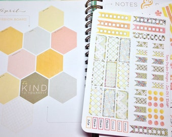 Zen Dreamsicle Weekly Planner Stickers for Inkwell Press and other horizontal planners