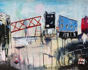 Glasgow Art Print Urban Art Painting